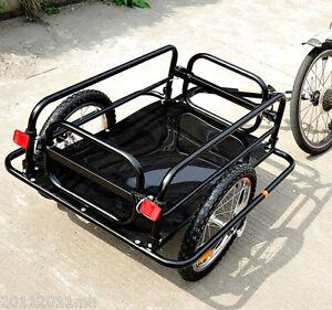 Aosom-Folding-Bicycle-Cargo-Trailer-Utility-Bike-Cart-Carrier-Garden-Patio-Tool