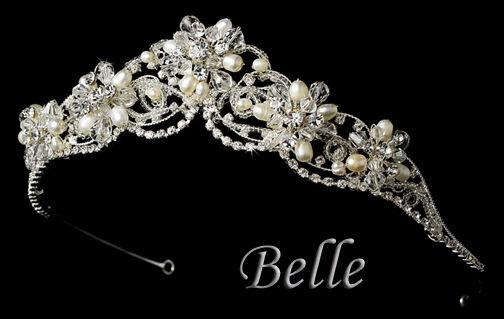 Belle - Crystal & Freshwater Pearl Tiara