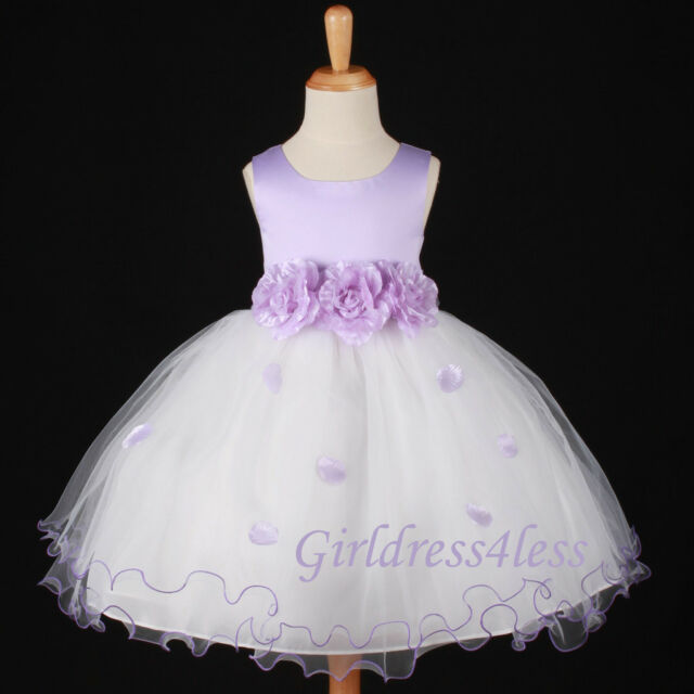 LILAC/LAVENDAR WEDDING EASTER PICTURE FLOWER GIRL DRESS 6M 12M 18M 2 4 6 8 10