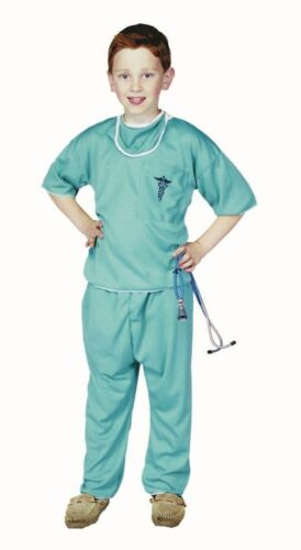 ER E.R. DOCTOR DR CHILD COSTUMES MALE NURSE SCRUBS KIDS BOY OUTFIT 90061