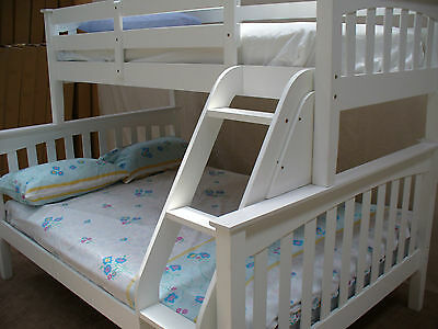 BUNK BED DOUBLE SINGLE TIMBER