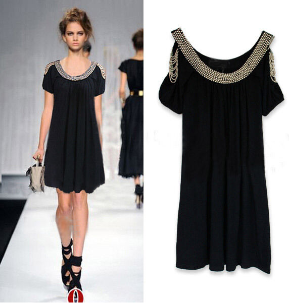 elegant Black Cocktail Evening party dinner dress size 8-10 12-14 16-18 20