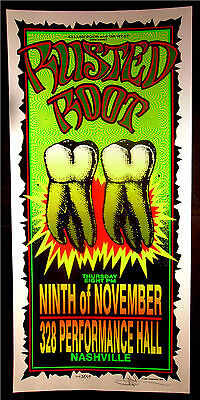 Rare Mark Arminski Rusted Root Nashville 1995 Silkscreen Concert Poster