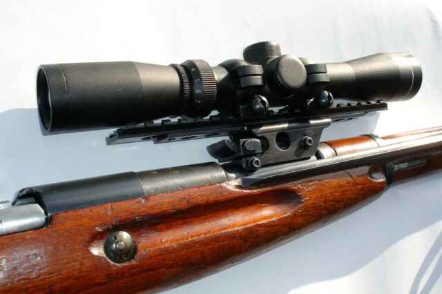 Scout Scope Mount for Mosin Nagant M38 or M44 See Through with Picatinny Rail