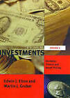 Investments: Portfolio Theory and Asset Pricing: v. I by Martin J. Gruber, Edwin J. Elton (Paperback, 1999)