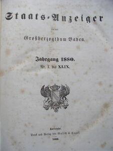 Staats-Anzeiger-fuer-das-Grossherzogthum-Baden-1874-Nr-I-bis-LX-Staatsanzeiger