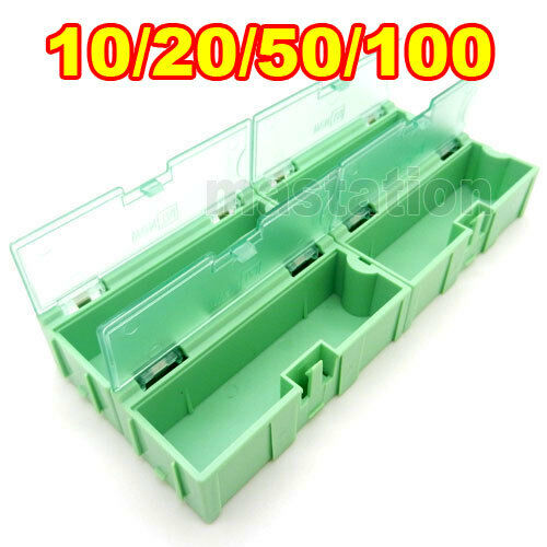 Green Kit Components Boxes Patch Parts Interlocking Storage Box SMT SMD Kits Lot
