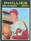 1971 Topps Billy Champion Philadelphia Phillies #323 Baseball Card