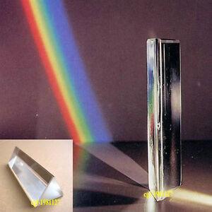 10cm-4-034-Optical-Glass-Triangular-Prism-Physics-Teaching-Light-Spectrum-NEW