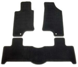 New Factory OEM GM Hummer H3 Black Ebony Pewter Gray Edge Floor Mats Carpeted