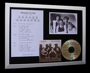 QUEEN-Hammer-To-Fall-LTD-CD-MUSIC-FRAMED-DISPLAY-EXPRESS-GLOBAL-SHIPPING