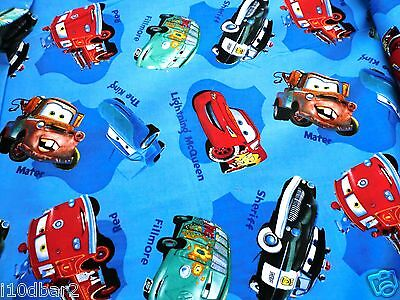DISNEY CARS FABRIC cotton fabric CARS BLUE TEAM MCQUEEN FABRIC By the yard NEW