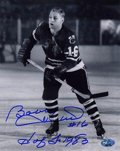 Bobby Hull SIGNED 8x10 Photo + HOF 1983 Chicago Blackhawks PSA/DNA AUTOGRAPHED