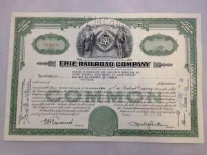 Share-Certificate-The-Erie-Railroad-Railway-Company-1954
