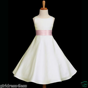 IVORY-PINK-A-LINE-PAGEANT-WEDDING-FLOWER-GIRL-DRESS-12-18M-2-4-5-6-8-10-12-14-16