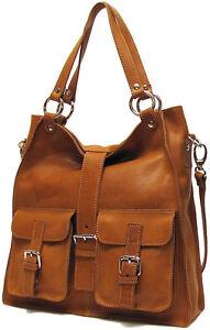 Italian-Leather-Handbag-Purse-Hobo-Tote-5590-TAN