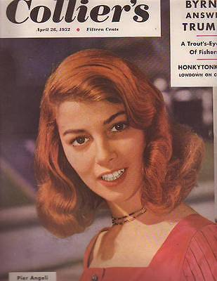 1952 Colliers April 26 - Pier Angeli; Honky tonk USA; Donald O'Connor;Trout fish