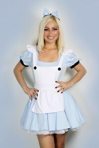 Sexy-Halloween-Womens-Alice-in-Wonderland-Fancy-Dress-Costume-outfit-S-M-L