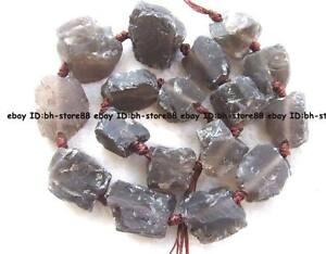 21x22-25x25mm-brown-smokey-Quartz-baroque-rough-gemstone-Beads-15-5-039-039