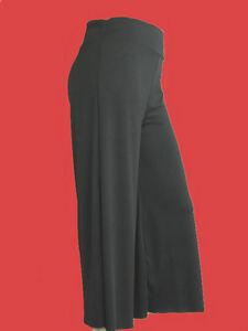 New-Women-Plus-Size-Gaucho-Capri-Pants-Black-Brown-Gray-Olive-1X-2X-3X-4X-5X-6X