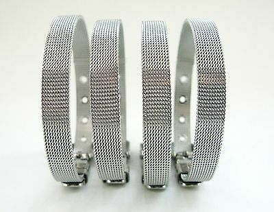 10pcs Stainless Steel Buckle Wristband Fit 8mm Slide Charms/Letter Free Shipping