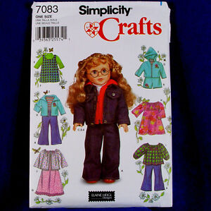 Simplicity-7083-18in-Doll-Clothes-Pattern-7-Designs
