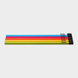 MoMA-Museum-of-Modern-Art-LOGO-HB-Pencil-Set-Set-of-6-Clear-Box-made-in-Japan