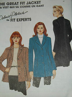McCALL'S # 8461 - LADIES CLASSIC LONG FITTED PRINCESS SEAM JACKET PATTERN 8-24uc