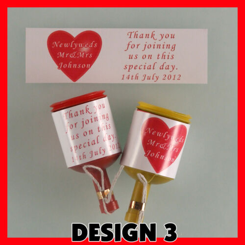 Personalised  WEDDING  Party popper LABELS Pre-cut x24 !!! Self adhesive