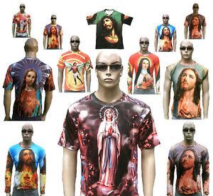 JESUS-CHRIST-AVE-MARIA-ENGEL-Religion-Tattoo-Motiv-Designer-T-Shirt-S-M-L-XL-XXL