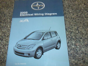 2005 toyota scion xa electrical wiring diagram service ... 2005 scion xa electrical wiring diagrams