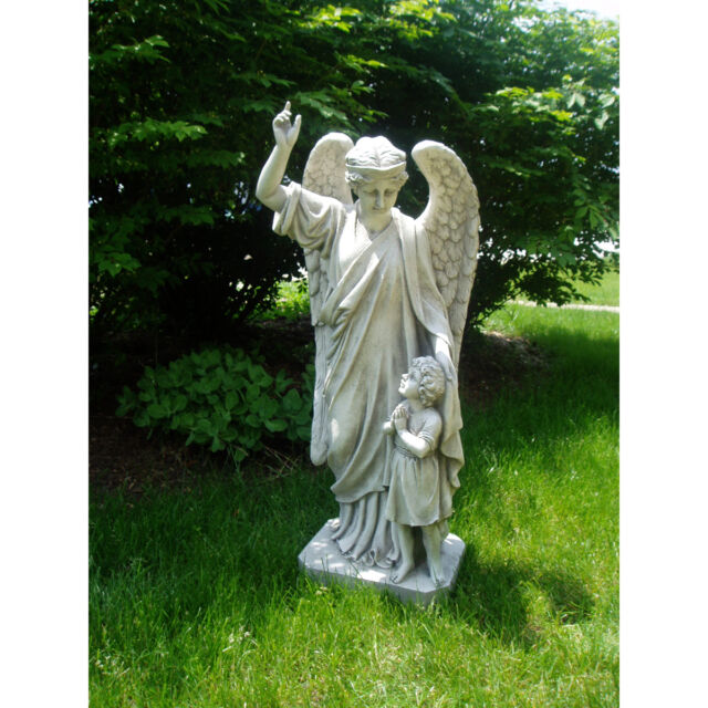 18th Century French Guardian Angel Sculpture Garden Statue Large Replica