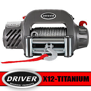 Driver-X12-Titanium-12-000-lb-12-volt-Electric-Self-Recovery-Winch-12v-12000-12K