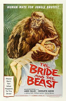 THE BRIDE AND THE BEAST Movie Poster 1958 Monster Movie