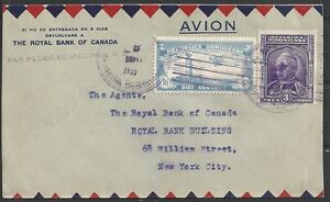 Dominicana covers 1933 mixed franked Airmail Bankcover