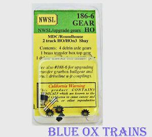 Nwsl 186 6 ho hon3 mdc 2 truck shay upgrade gears nib ebay