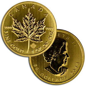 2013-Canada-1-Oz-9999-Gold-Maple-Leaf-50-Gem-Brilliant-Uncirculated-SKU27136