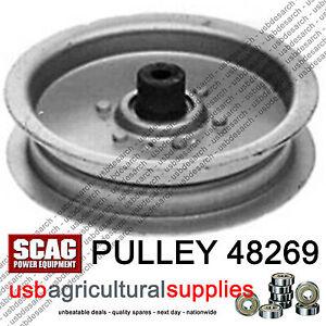 SCAG-IDLER-PULLEY-48269-SW-32-36-42-48-52-amp-COUGAR-MOWERS