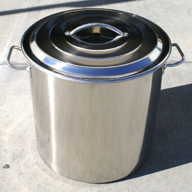 NEW 100 QT Quart Polished Stainless Steel Stock Pot Brewing Kettle Large w/ Lid