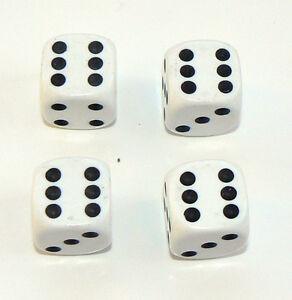 Set-of-Four-White-Dice-Dust-Caps-X4-80-039-s-Retro-Valve-Caps-BMX-VW