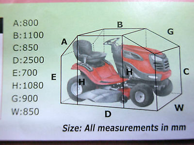 Ride on mower cover universal weather proof over 2.5m! PU coated