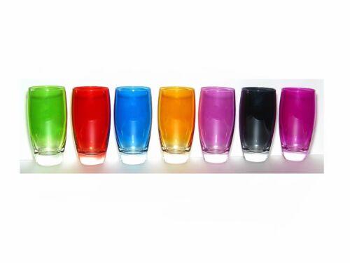 Farbige Trinkgläser, bunte Gläser 370 ml