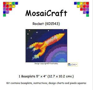 MosaiCraft-Pixel-Artigianato-Mosaico-Arte-Kit-039-Razzo-039-Pixelhobby