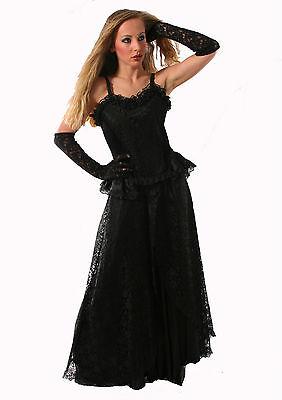 Gothic Skirt Victorian Halloween Vampire Dark Black Prom Night Sexy Net Skirt