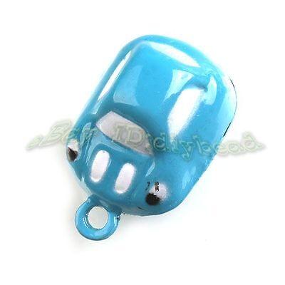 5x 270163 Hotsale Charms Blue Car Jingle Bells Fit Festival Decorative