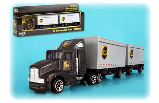 UPS UNITED PARCEL SERVICE DELIVERY TRUCK TRACTOR 1/87 HO SCALE BY DARON RT4345