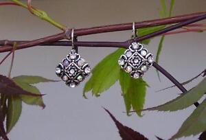Rhinestone-Clear-AB-Fancy-Diamond-Shape-Pierced-Silver-Finish-Leverback-Earrings