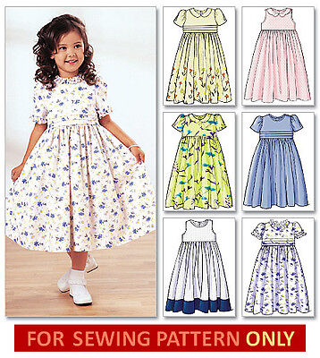 SEWING PATTERN! MAKES DRESS~ SUN DRESS! CHILD~GIRL SIZES 2 TO 8! CLOTHES