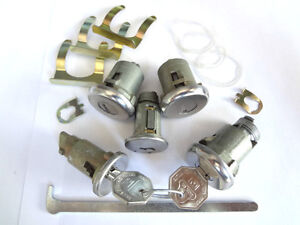 Buick-Special-Skylark-Ignition-Door-Trunk-Glove-Box-Original-Key-Lock-Kit-1969