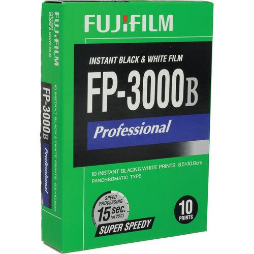 10 Exposures Fuji FP-3000B Pro Instant Black & White  Film FP3000B Exp:06/2015